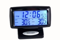 New 2013 LCD Display Digital Auto Thermometer Electronics Car Clock and luminous with FREE shipping