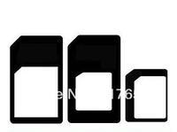 3 in 1  Nano SIM to Micro Sim to Mini Sim card adapter for iphone 5 4 4s