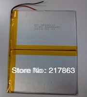 7.4V 6.6 Ah 6000 mah large-capacity ultra-thin MID tablet battery (thick) 3.6 * (wide) 138 * 110 mm (long)