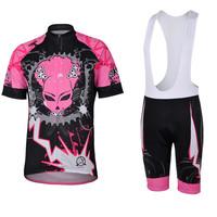 High Quality Free Shipping Womens Cycling Bib Shorts Coolmax 3D Padded + Jersey Devil