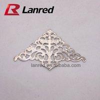 Free shipping 100pcs 35x35x50MM Silver Decroative Corner for Scrapbooking decoration Filigree TS11