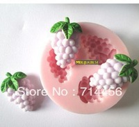 Free shipping silicone Grape shape fondant cake mold,candle mold,chocolate mold,soap mold,bakeware DIY tools
