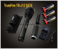 Trustfire TR-J12 Flashlight 5 Mode 4500 Lumens 5 X CREE XM-L T6 LED Waterproof High Power Torch+3X26650 Battery+charger~