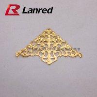 Tc15 Free shipping 100pcs 35x35x50MM Gold Decroative Corner for  DIY Craft