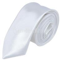 Free Shipping Unisex Casual Necktie Skinny Slim Narrow Neck Tie - Solid White