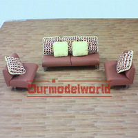 1 sets 1:25 scale model sofa for model layout and dolls house