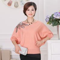 2013 loose plus size knitted batwing sweater shirt fashion elegant women's