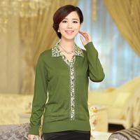 2013 autumn turn-down collar sweater women cardigan mother clothing outerwear  women's