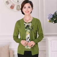 Sunscreen 2013 autumn shirt loose women's elegant cutout knitted air conditioning shirt small