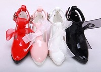 Free shipping Bjd women 's express shoes high - heeled shoes black white red pink (1/3)