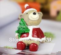 "Wholesale - 120pcs lot Resin Santa Claus Figures 2.2"" Polyresin Santa Figurines Christmas Home Decor, Free Shipping"