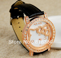 HELLO KITTY diamond watches fashion female models girls belt watches Hello Kitty watches free shipping
