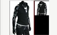 New Mens Casual Slim Fit hoody Short sleeve Tee Shirt T-shirt Top