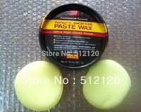 Free shipping 2014 new sle 3M 39526 Paste Wax Ultra High Gloss 3m wax (TOP QUALITY) with 2 piece Waxing Polish Wax Foam Sponge