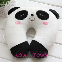 Cute Cartoon Panda Pattern Design Travel car home pillow, U shape Neck pillow / rest pillow
