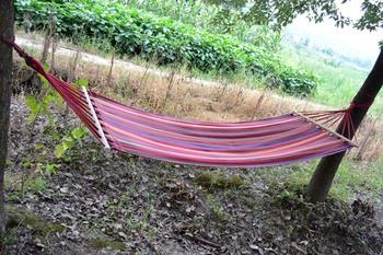 Single outdoor casual scytale hammock thickening cotton cloth hammock