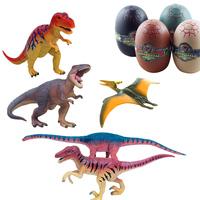 Hot-sell Dinosaur Egg eggs 4D Stereo Assembling Plastic Animal Model Children's educational toys toy animal models Free Shipping