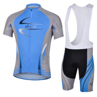 Mens Cycling Bib Short with 3d Coolmax Pants + Jersey High Quality Riding Suit