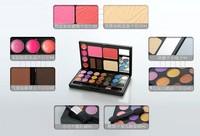 Free shiping Danni 21 color Eye shadow + 4 Lip gloss+2 Blusher + 2 Eyebrow powder+ 1 Foundation+2 brush ,Palette Kit