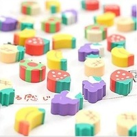 Fashion creative and lovely cartoon bulk fine fruit eraser mini fruit small eraser