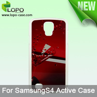 Free shipping !!!!! Sublimation Phone Case for Samsung S4 Active( Plastic case)