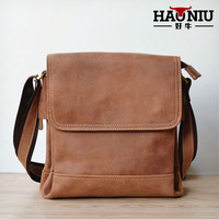 SALE Crazy horse leather man bag first layer of cowhide genuine leather bag male shoulder bag cross-body vintage casual handmade