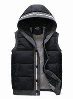 Free Shipping Winter Warm Man's Down Cotton Vest Fashion Wadded  Waistcoat  For Man Warm High Quality Winter Vest M-XXL VT-63