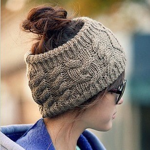 2013 New Style Fashion Women's Head Band Solid Color No Top Lady's Caps Twist Knitted Nice Clothes Accessory 4 Color