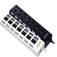 New High Speed 7 Ports USB Hub On/Off Sharing Switch for Laptop PC Notebook Computer, 2 Colors Available