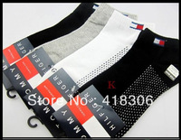 6Pcs=3Pairs Brand Men's Socks/Cotton Leisure sports socks , Men 's ankle Sock antibacterial, breathable 100%Cotton best quality