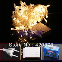 10m 100 LED 220V Warm White 8-Modes String 220V Light Party Chrismas Lamp Decoration  220V led lamps led bulb