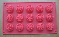 Rose flowers chocolate biscuit candy mold milling cutter fondant cake pop baking tools
