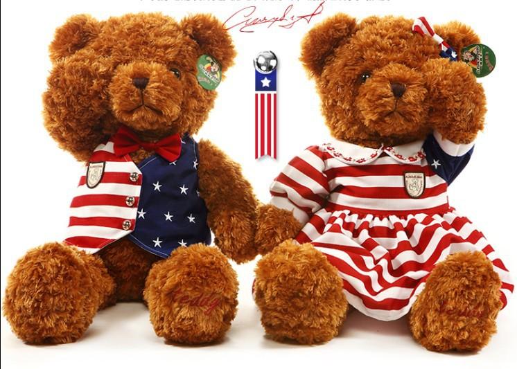 Preppy style plush teddy toy bear lovers dolls Stuffed PP Bear Toys Kids/Child Wedding Valentine's Gift Christmas Present(China (Mainland))