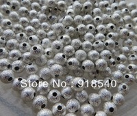 4MM 1000pcs/Lot  Shiny Silver Round Metal Stardust Beads, Loose Spacer Metal Beads for Chunky Jewelry Findings Making