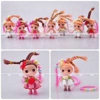 Baby Doll Girl Pendant Necklace Children Jewellery Party Gift Neckalce & Bracelet Set Mixed Colors Wholesale 24 sets/lot FKJ0057
