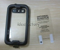 AAA Waterproof Cases Screenless Clear Case for Galaxy i9300 S3 nuud NUUD Case DHL White Black
