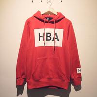 2013 autumn and winter clot hood by air hba logo with a hood sweatshirt outerwear