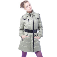 Yalu down coat women's ribbon medium-long thermal outerwear female ym10610