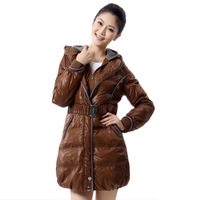 Yalu middot . down coat female rib knitting roll-up hem with a hood medium-long female bb65080 1118.00