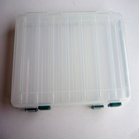 free shipping 4pcs Double layer lure tool box tool box hard bait box to be bait double faced portable