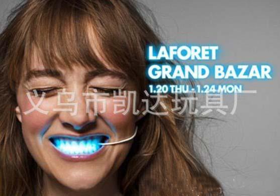 Best price LED flashing mouth/ LED vow light/ novelty product/ party gift/ new christmas gift 50pcs(China (Mainland))