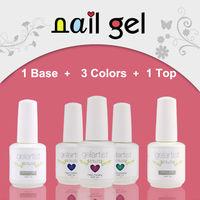 5 pcs Gelartist (3colors gel+1 base coat+1 top coat)Soak Off UV Nail Gel  Polish  Nail Art  84 Colors