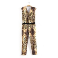 Fashion Tiger 2013 Animal Print Jumpsuit Female Jumpsuit