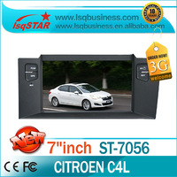 Wholesale 7inch Citroen C4L Car Audio Player GPS Navigation full functions with 3G hot selling free shipping