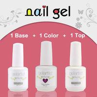 New Arrival(1color gel+1 base coat+1 top coat)Brand Gelartist Nail Art Color UV Nail Gel  Polish Soak Off Ccolorful Gel