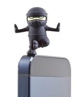 Fashion 2 in 1 Yoga Ninja Shape Stylus Touch Pen Dust Earphone Plug Ear Cap Silicon Free Shipping
