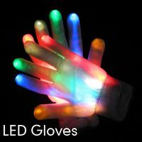 LED Flashing Gloves Colorful Flash Finger Light Glove Christmas Halloween Party Decoration Novelty Toys