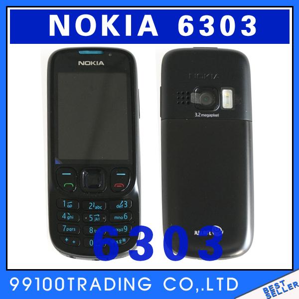 6303c Original Nokia 6303 classic Bluetooth MP3 6303CI mobile phone russian keyboard russian Good renovation Free Shipping(China (Mainland))
