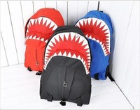 Free shipping 2013 ultralarge capacity shark backpack student school bag women's handbag backpack