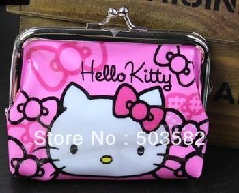 lovely cartoon clutch hello kitty coin Purse purses Clutch clutches bag bags mini handbag women messenger bags free shipping